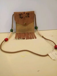 Suede pouch with beads Toms River, 08753