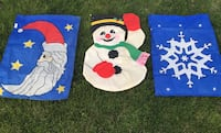 Christmas HUGE Outdoors Flag Decor Decoration Holiday Flag Pole