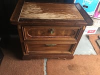 brown wooden 2-drawer nightstand Saanich, V9E 2E6