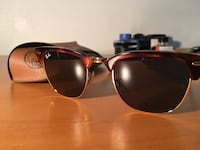NEW Ray-Ban Clubmaster Havana Frame with Blue Lenses (RB3016)