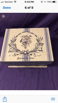 Decorative storage box with gifts inside