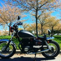 black and gray cruiser motorcycle 3727 km
