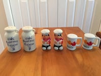 Set of three Salt and Pepper Shakers $5 each or 3 for $10