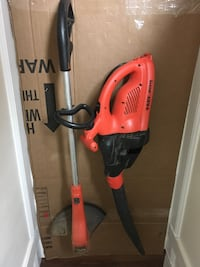 Black & Decker electric weed eater and leaf blower