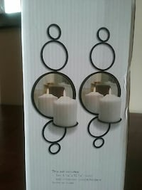 Wall candle sconces.