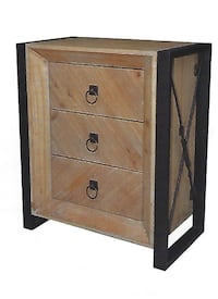 WOODEN 3 DRAWER CABINET- BRAND NEW STILL IN BOX Aurora