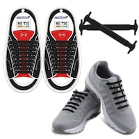 12 Piece 100% Silicone Easy No Tie Elastic Shoe Laces Trainers Shoes Adult Kids TORONTO