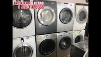 four white front-load clothes washer and dryer set 797 km