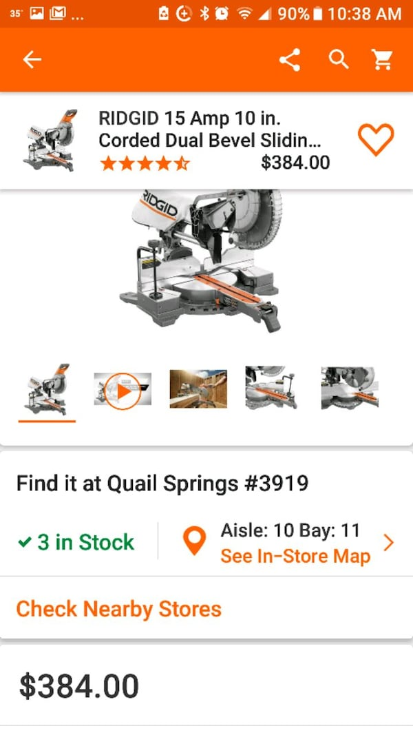 Great Deal on NEW Rigid Sliding Miter Saw f1af3f44-1ad5-4a07-88ef-116f87449f7c