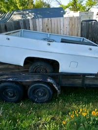 Chevy truck bed trailer/ car trailer for sale too.
