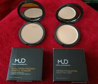MUD Makeup Designory Dual Finished pressed Mineral Powder ($45)& MUD Cream Foundation ($40) Richmond Hill, L4E