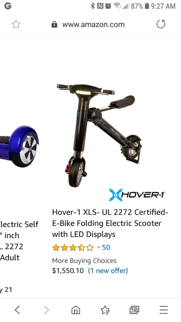 hover 1 folding electric scooter 034c5935-b40b-4b04-9119-a7018ff20ae9