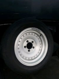 gray bullet hole car wheel with tire Bellevue, 98007