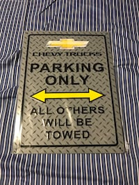 Chevrolet truck parking sign