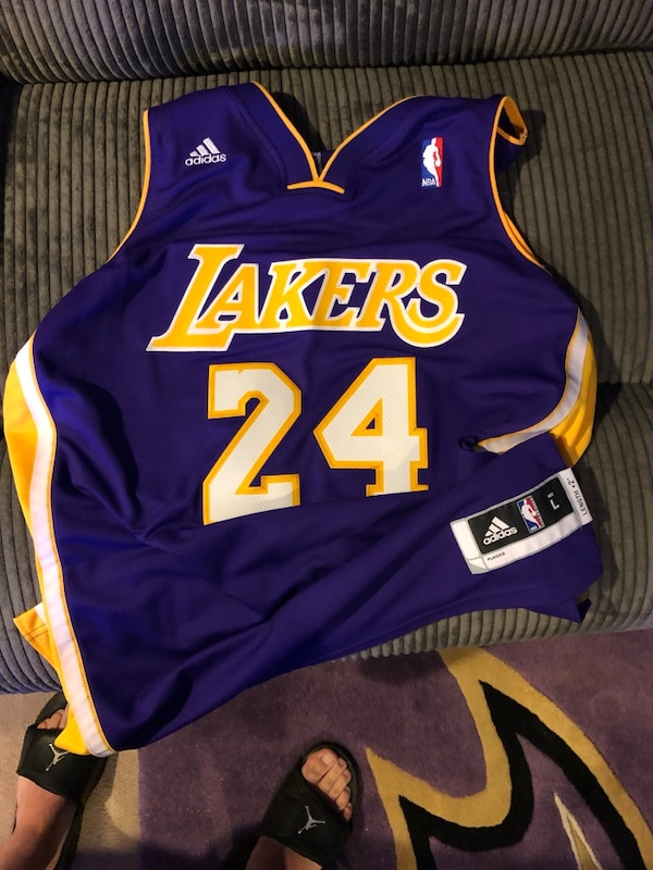 huge selection of 82da1 6ac7b NEW WITHOUT TAGS ADIDAS NBA LAKERS KOBE BRYANT JERSEY LARGE