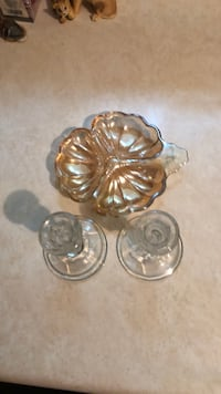 Antique dish and candle holders North Kingsville, 44030