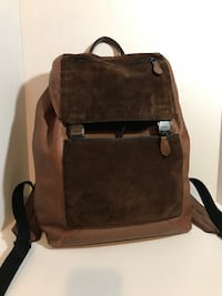 Coach Leather and Suede Backpack (Men's) Milton, L9T 4K1