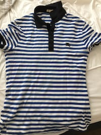 white and black stripe polo shirt Bethesda, 20814
