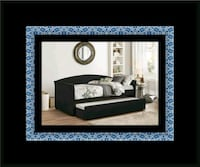 Daybed black with mattress Laurel, 20708