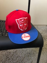 black and red Autobots fitted cap