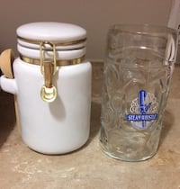 Jam jar with spoon and water jug Ottawa, K1G 3S7