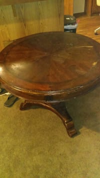 "Round wooden kitchen table 36"" 44"