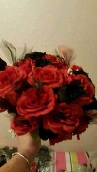 red and black artificial flower decor Claremore, 74019