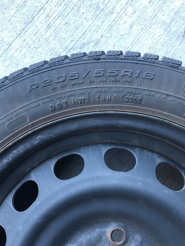 4 Winter GoodYear Tires with rims 2