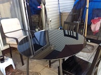 Black table and 2 chairs Table is glass Edmonton, T5R 2R9
