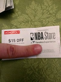 NBA $15 off coupon and 15% off coupons
