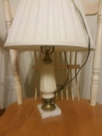 white and brown table lamp Grovetown, 30813