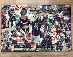SOCCER FANS! Collage of Italian soccer ROMA team, featuring TOTTI.