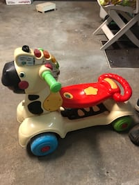 3 in 1 vtech zebra scooter kids