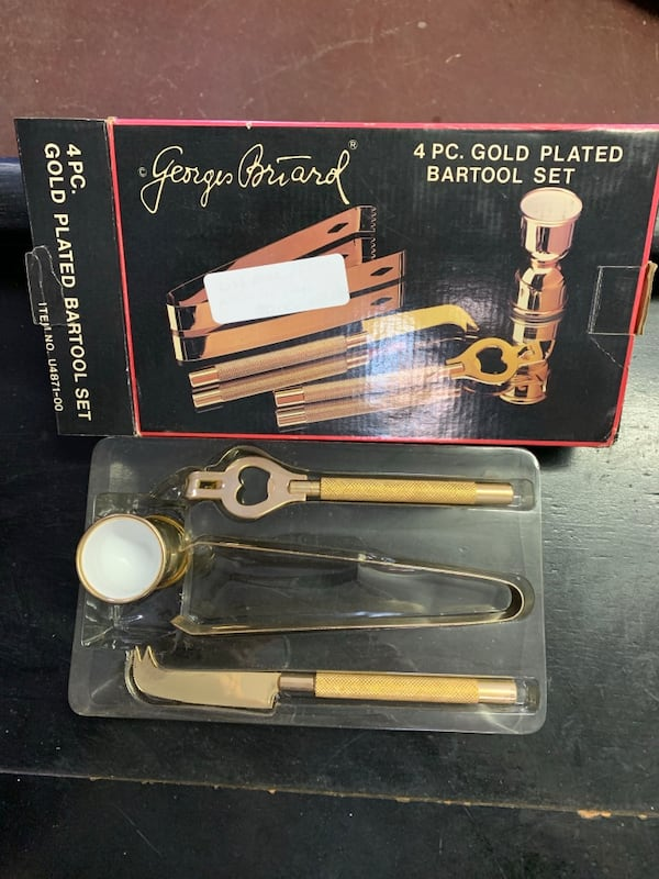 4pc 22k gold plated bar tool complete  set 6607ea97-82f9-45ac-8a51-c90838723345
