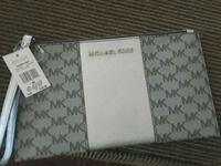 white and gray monogrammed Michael Kors leather wallet Phoenix, 85035