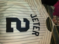white and black Jeter 2 jersey shirt