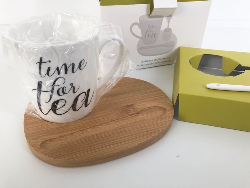 Tea Cup/Mug Set with Tray and Infuser from Indigo 3