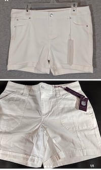 2 white shorts (size 13/31 and size 10)- $10 for both Kitchener, N2P