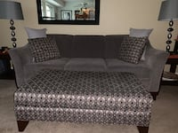 Couch and chair & ottoman w/pillows