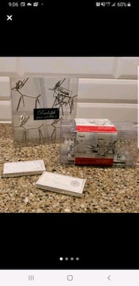 Holiday place card holders with cards