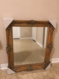Large Antique Gold Frame Mirror - 30 by 26 inches - retail: $350 Toronto, M2J