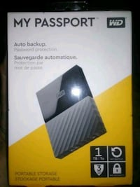 WD MY Passport 1TB External Hard Drive (NEW) Vancouver, 98664