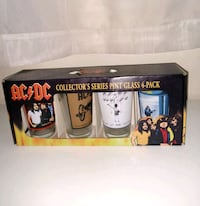 AC/DC collectors series pint glass 4 pack