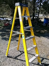 yellow and gray Werner a-frame ladder Redmond, 97756