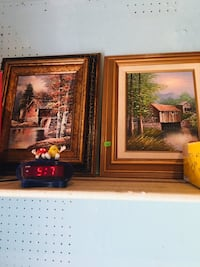 two brown wooden framed paintings Tiverton, 02878