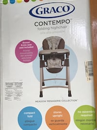 graco contempo folding highchair box North Highlands, 95660