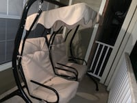 white and black camping chair Pikesville