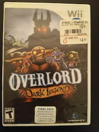 Overlord for Nintendo Wii Vaughan, L4L 5P2