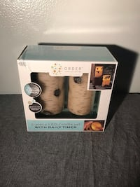 2 piece led candle set new in box Waldorf