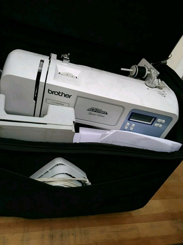 Brother sewing machine with case